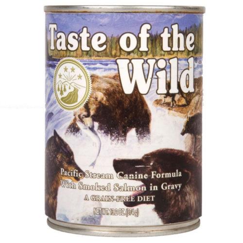 Taste of the Wild Pacific Stream comida húmida para cães