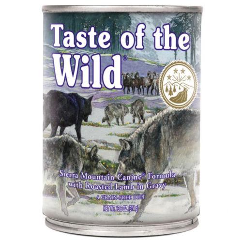 Taste of the Wild Sierra Mountain comida húmida para cães