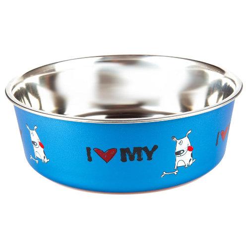 Comedouro de aço inox TK-Pet I love my dog