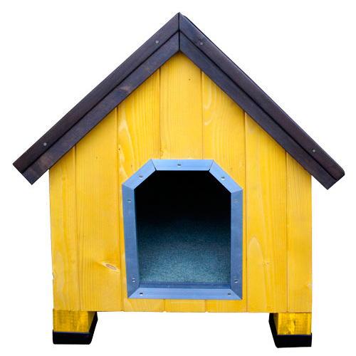 Casota de madeira para cães Alpine Amarela TK-Pet
