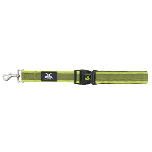 Trela curta de nylon com alça acolchoada X-TRM Pro verde-limão