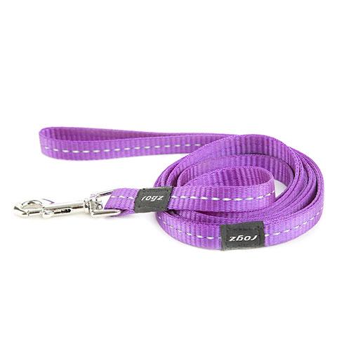 Trela lilás com costura reflectante para cães By Rogz