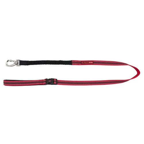 Trela de nylon com borracha elástica X-TRM Pro vermelha