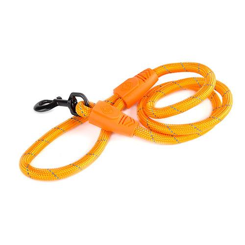Trela para cães de nylon redondo TK-Pet Reflective Rope cor de laranja
