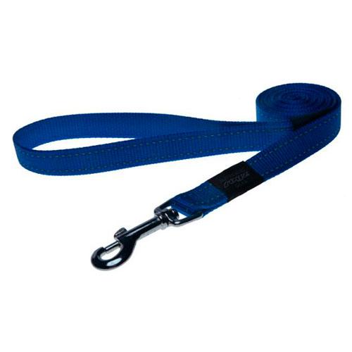 Trela para cães Rogz Utility cor azul com costura refletora