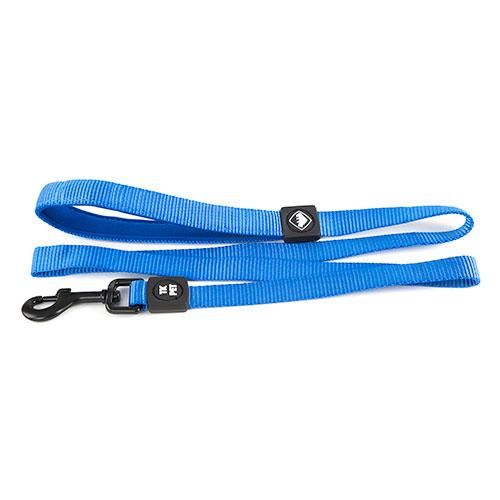 Trela para cães TK-Pet Neo Classic azul de nylon e neopreno