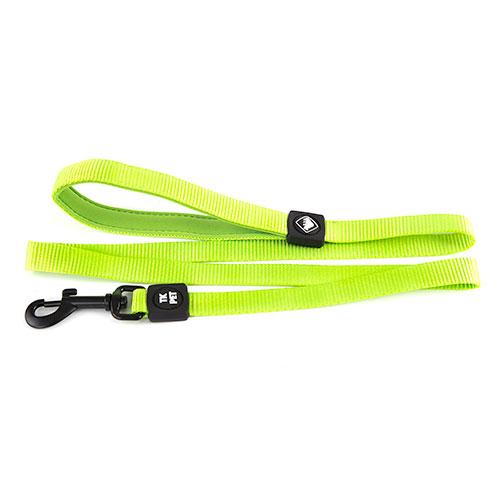 Trela para cães TK-Pet Neo Classic verde lima de nylon e neopreno