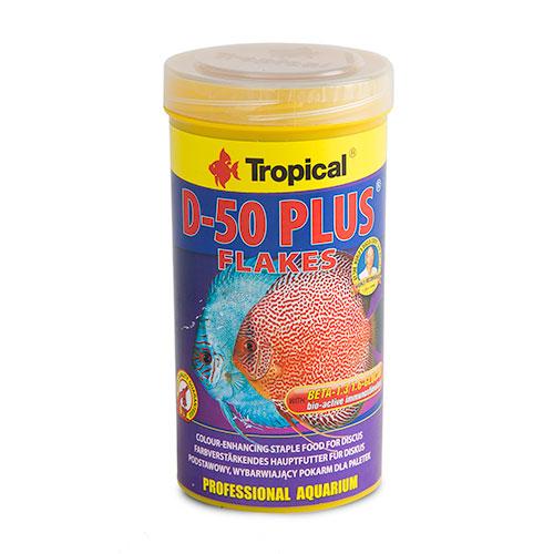 Tropical D-50 Plus Alimento em escamas para Discos