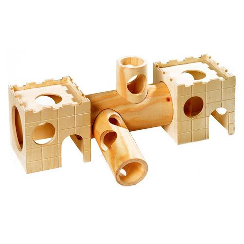 Túnel de madeira para hámster