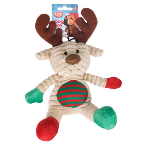 Urso ou rena natalícia de peluche suave para cães