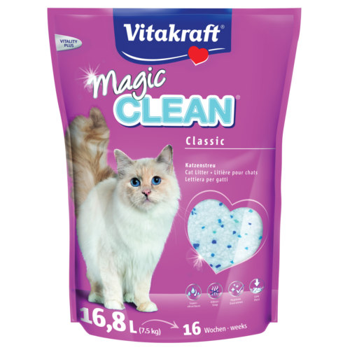 Vitakraft Magic Clean areia de sílica para gatos