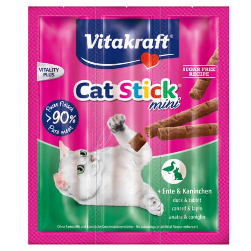 Vitakraft Mini barrinhas para gatos com pato e coelho 3uds