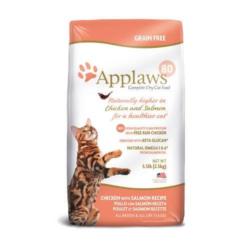 Ração para gatos Applaws com sabor a frango e salmão