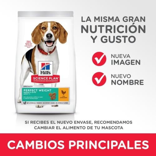 Science Plan Canine Hill Perfeito peso médio do alimento para cães