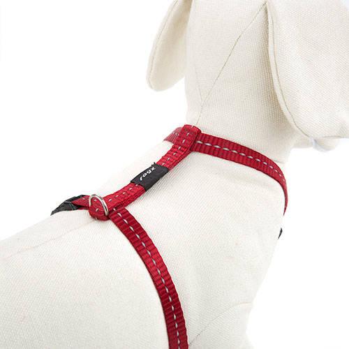 Arnês vermelho com costura reflectante para cães By Rogz