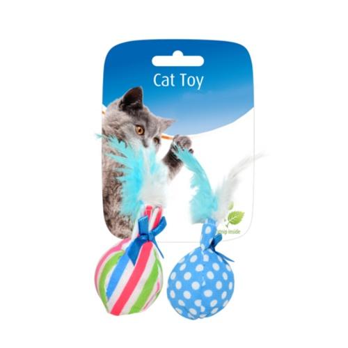Brinquedo para gatos Irresistível bola com penas