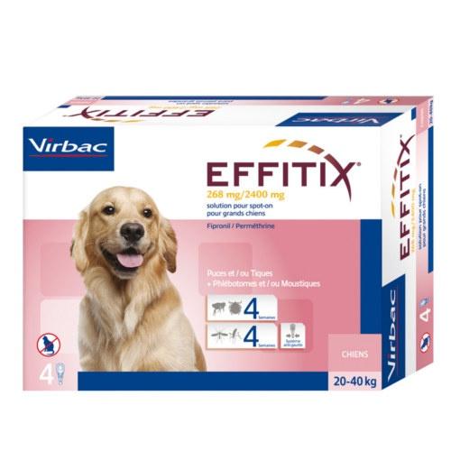 Pipetas anti parasitárias para cães Effitix