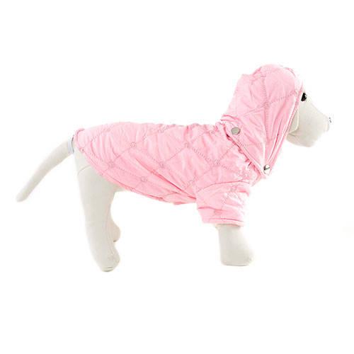 Casaco acolchoado cor rosa