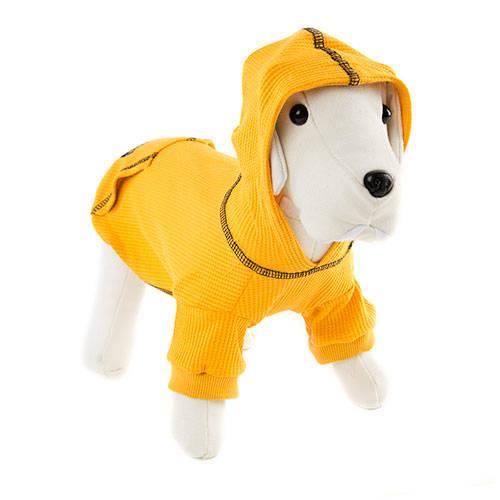 Camisola com capuz para cães Signature cor amarelo mostarda