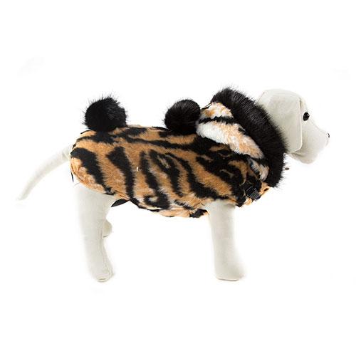Casaco quentinho para cães Chic com estampado tigre