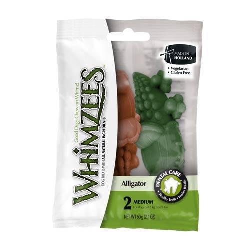 Snacks para cães médios Whimzees crocodilo dental