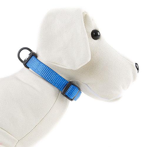 Coleira para cães TK-Pet Neo Classic azul de nylon e neopreno