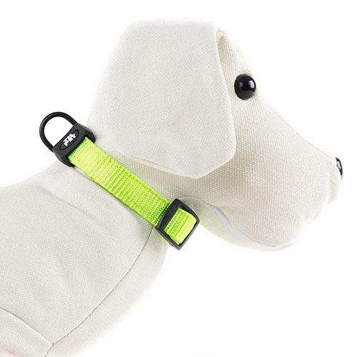 Coleira para cães TK-Pet Neo Classic verde lima de nylon e neopreno