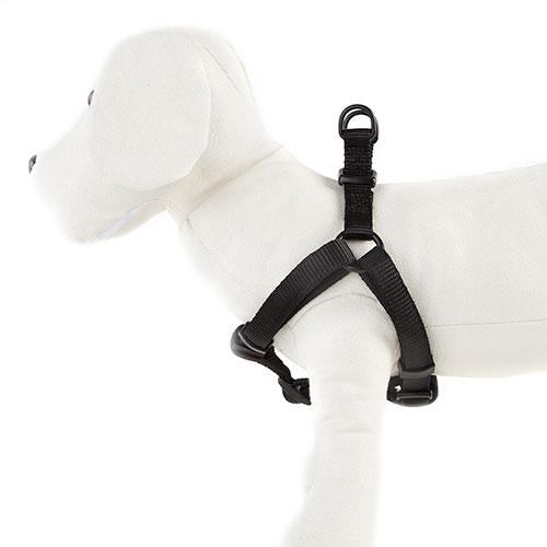 Arnês para cães TK-Pet Neo Classic preto de nylon e neopreno