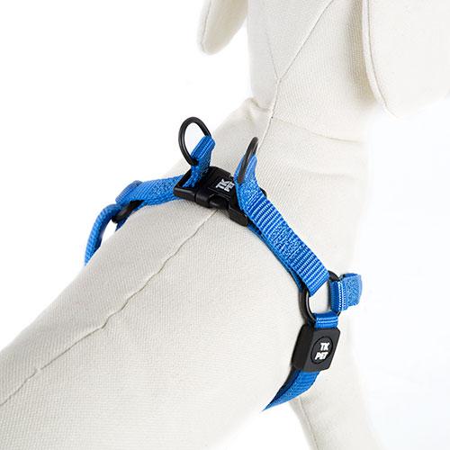 Arnês para cães TK-Pet Neo Classic azul de nylon e neopreno