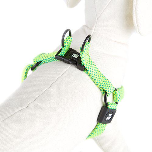 Arnês para cães TK-Pet Neo Design verde lima de nylon e neopreno