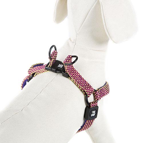 Arnês para cães TK-Pet Neo Design roxo de nylon e neopreno