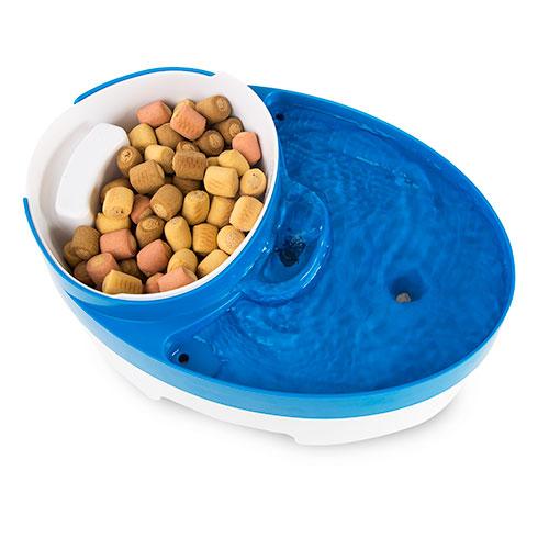 Fonte para gatos e cães TK-Pet DeliBistró 3 em 1 com comedouro e doseador