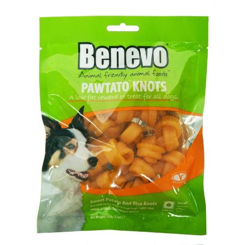 Benevo Pawtato Knots snacks veganos para cães