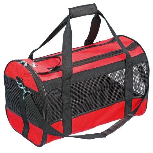 Bolsa de transporte para cães e gatos Divina vermelha