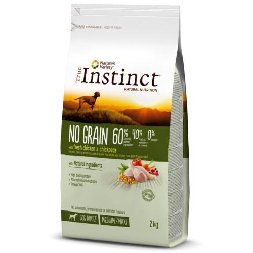 Ração para cães adultos True Instinct No Grain Medium ? Maxi com frango