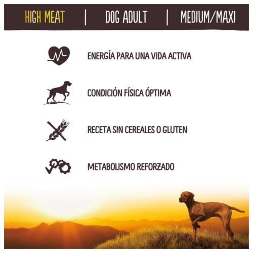 Ração para cães adultos True Instinct High Meat Medium Maxi