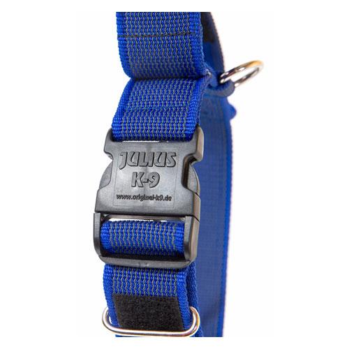 Coleira com alça e fecho duplo Julius K9 IDC azul