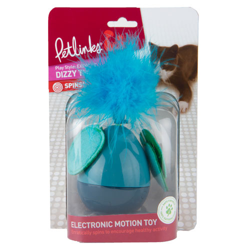 Balanço eletrónico com penas para gatos Dizzy Thing