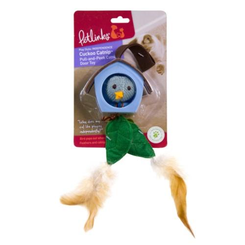 Cuco pendurado com penas para gatos Cuckoo Catnip
