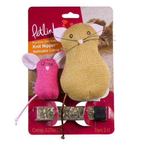 Rato e gato de lã recarregáveis de catnip para gatos
