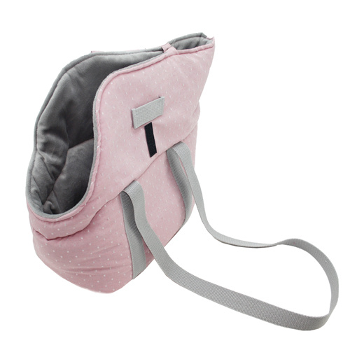 Bolsa rosa pastel com interior suave para cães e gatos Sofia