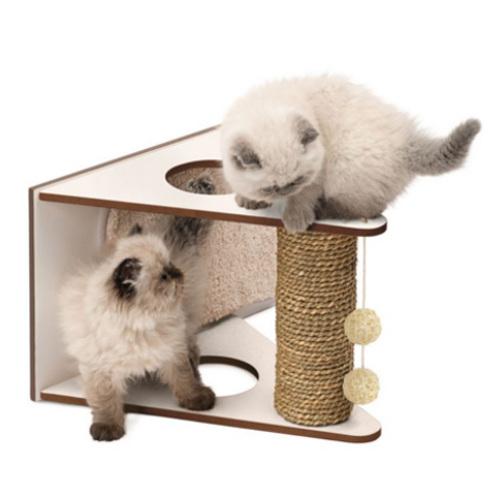 Arranhador de design para gatos V-Playstation Vesper branco