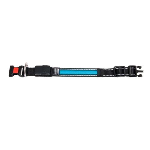 Coleira com faixa LED azul com carregador USB