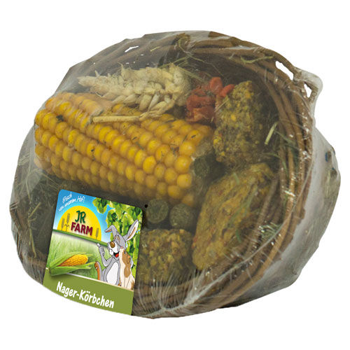 Snacks cesta comestível JR Farm para roedores coelhos