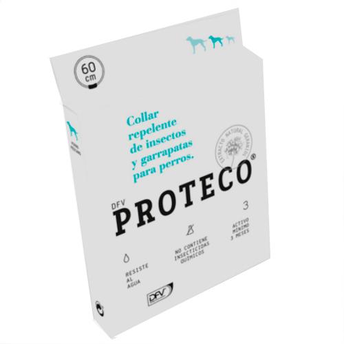 Coleira repelente de insetos e carrapatos para cães Proteco