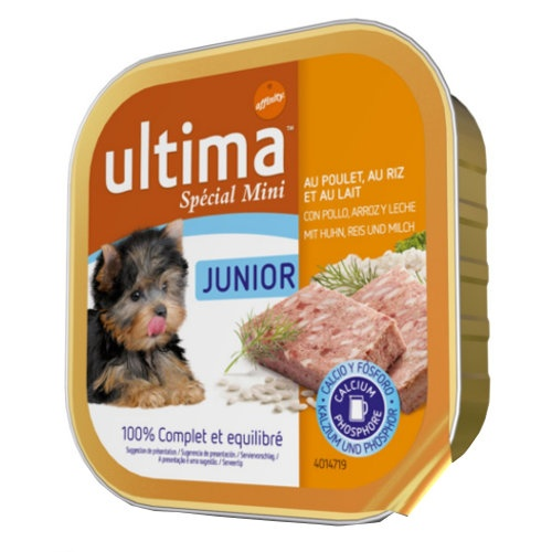 Affinity Ultima Junior comida húmida com frango para cachorros