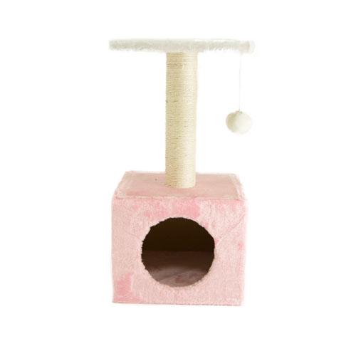 Arranhador para gatos TK-Pet Ara cor-de-rosa