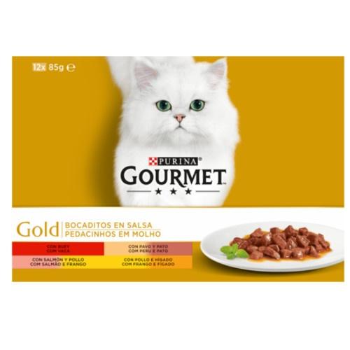 Pack Gourmet Gold sortido de bocadinhos em molho