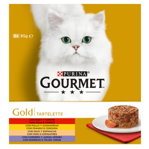 Pack Gourmet Gold Tartelette sortido de carnes e verduras