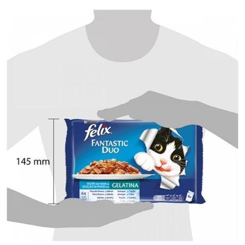 Felix Sensations Crunchy Seleção de peixes para gatos